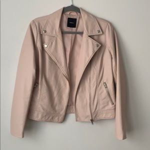 Forever21 light pink faux leather jacket